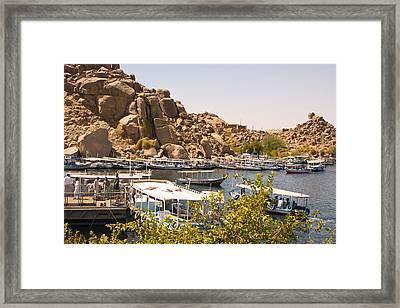 Temple Boat Dock Framed Print