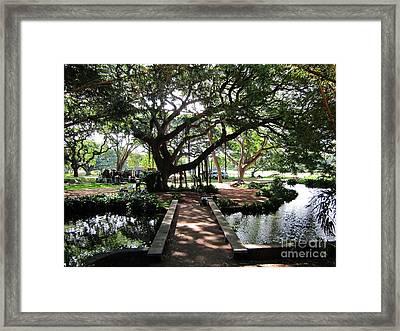 Temple Bridge Framed Print by Craig Wood
