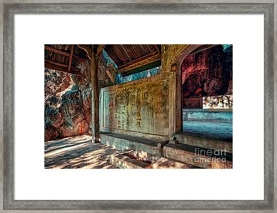 Temple Cave Framed Print