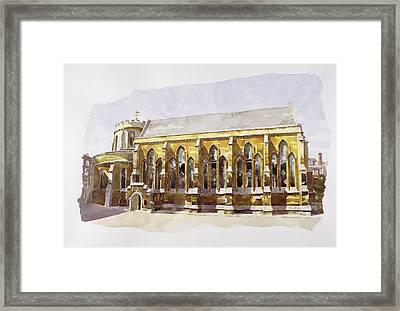 Temple Church Framed Print by Annabel Wilson