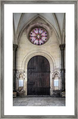 Temple Church Doorway Framed Print