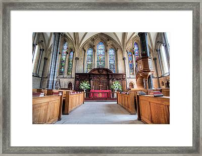Framed Print featuring the photograph Temple Church by Ross Henton