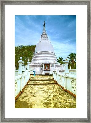 temple complex at the tropical island Sri Lanka Framed Print by Gina Koch