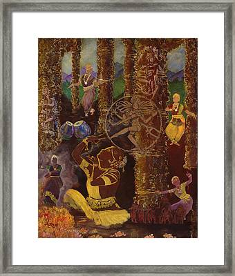 Temple Dance Framed Print