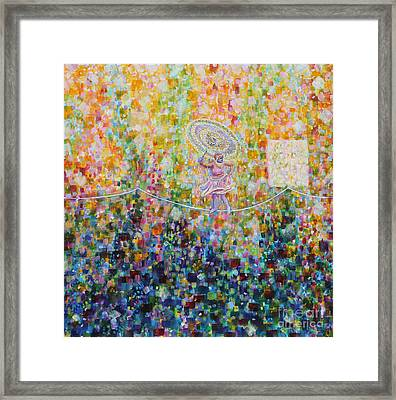 Temple Dance-tightrope  Framed Print