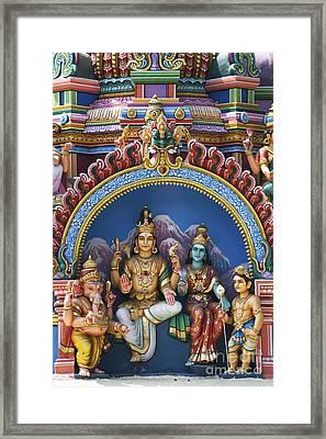 Temple Deity Statues India Framed Print