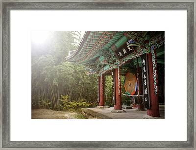 Temple Drum Framed Print