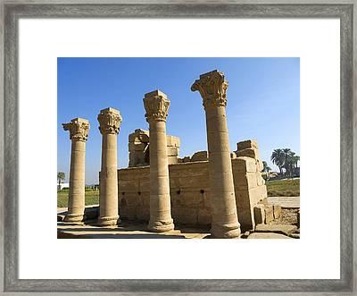 Temple Entrance At Denderah Framed Print by Brenda Kean