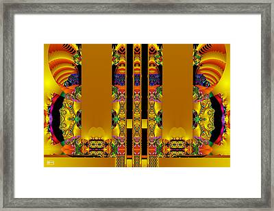 Temple Entrance Framed Print