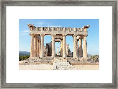 Temple Entrance Framed Print
