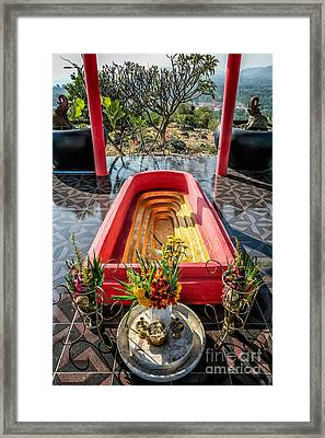 Temple Feature  Framed Print by Adrian Evans