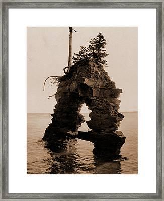 Temple Gate, Apostle Islands, Lake Superior, Lakes & Ponds Framed Print