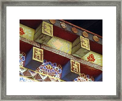 Temple In Bhutan Framed Print by Patrick Morgan