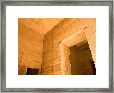 Temple Interior Framed Print
