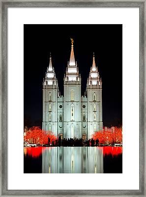 Temple Lights Framed Print by Dustin  LeFevre