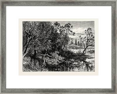 Temple Lock, Marlow, Uk, Great Britain, United Kingdom Framed Print by English School