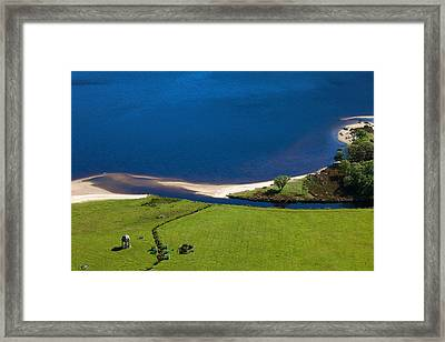 Temple, Lough Tay ,county Wicklow Framed Print by Panoramic Images