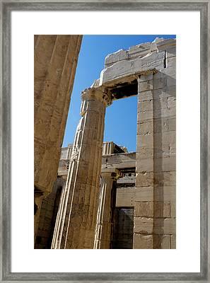 Temple Maze Of Columns Framed Print