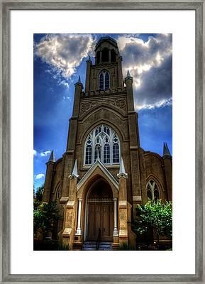 Temple Mickve Israel Savannah Georgia Framed Print