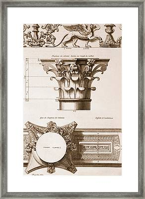 Temple Of Antoninus And Faustina Framed Print by Antoine Babuty Desgodets