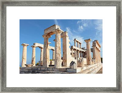 Temple Of Aphaia Columns Framed Print