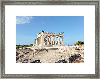 Temple Of Aphaia In Aegina Framed Print