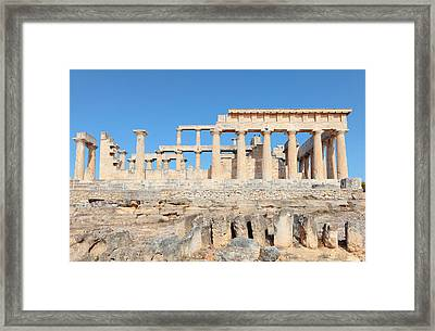 Temple Of Aphaia Side View Framed Print