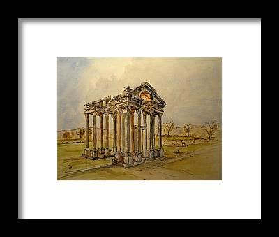 Greek Temple Framed Prints