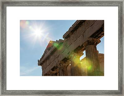 Temple Of Athena  Athens, Greece Framed Print by Reynold Mainse