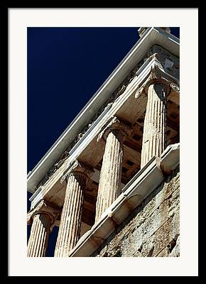 Temple Of Athena Nike Columns Framed Prints