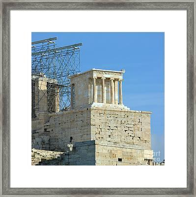Temple Of Athena Nike Framed Print