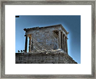 Temple Of Athena Nike Framed Print by James R Martin