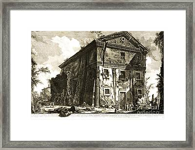Temple Of Bacchus Rome 1746 Framed Print by Padre Art