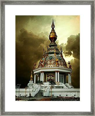 Temple Of Clouds  Framed Print