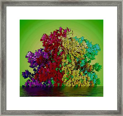 Temple Of Colors Framed Print