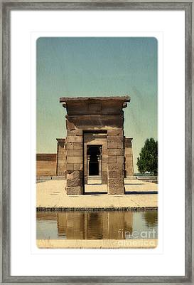 Temple Of Debod Framed Print by Mary Machare