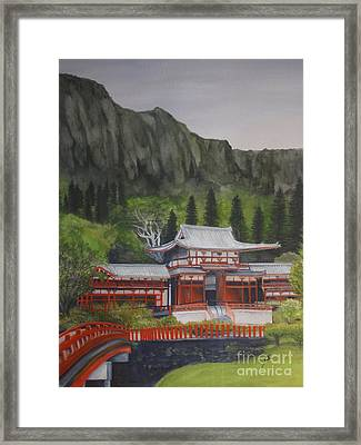 Framed Print featuring the painting Temple Of Equality by Suzette Kallen