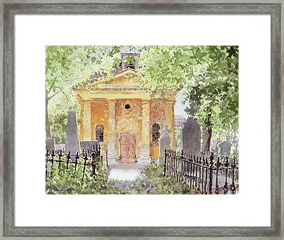 Temple Of Harmony, Vesprem, Hungary, 1996 Wc On Paper Framed Print by Lucy Willis