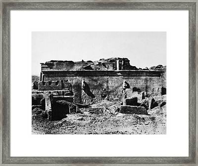 Temple Of Hathor, 1850 Framed Print