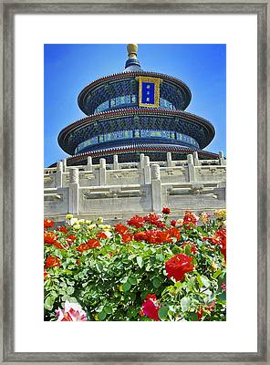 Temple Of Heaven  Framed Print by Sarah Mullin
