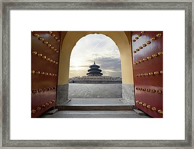 Temple Of Heaven Framed Print by Zyxeos30
