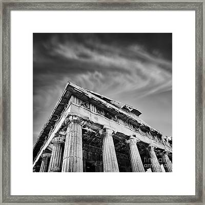 Temple Of Hephaestus- Athens Framed Print by Rod McLean