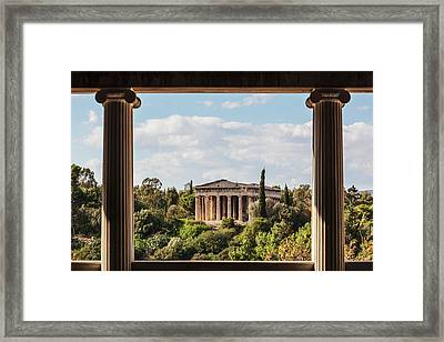 Temple Of Hephaestus, Greek Orthodox Framed Print