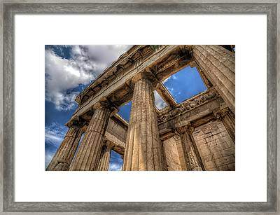 Framed Print featuring the photograph Temple Of Hephaestus by Micah Goff