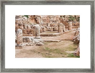 Temple Of Hera Framed Print by Gabriela Insuratelu