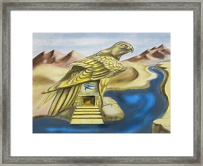 Temple Of Horus One Of Three Framed Print by Michael Cook