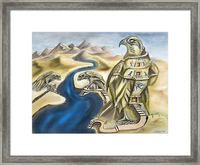 Temple Of Horus Three Of Three Framed Print by Michael Cook