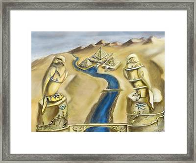 Temple Of Horus Two Out Of Three Framed Print by Michael Cook