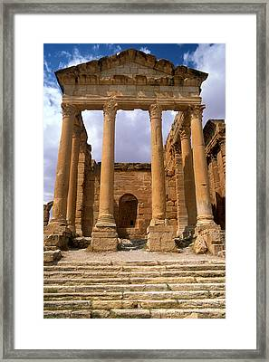Temple Of Jupiter, Sbeitla, Tunisia Photo Framed Print by .