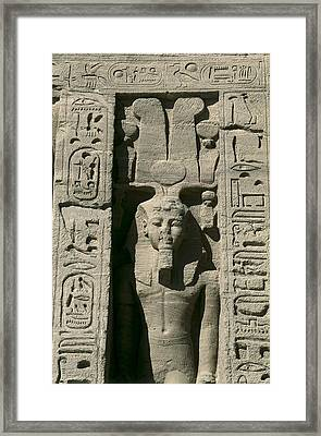 Temple Of Nefertari Dedicated Framed Print by Everett